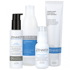 Acne oily skin therapy product range